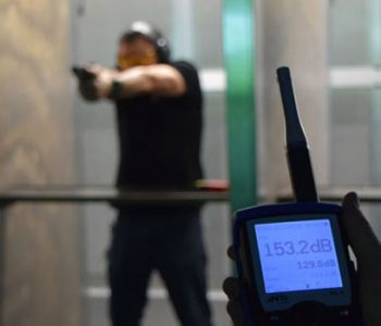 Sound Level Measuring at Shooting Range