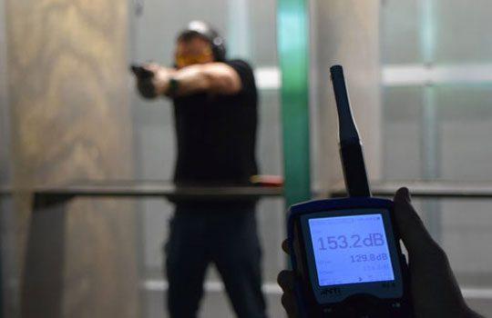 Sound Level Measuring at Shooting Range